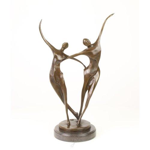 Beeld brons dansende koppel modern