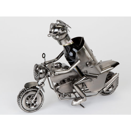 Wijnfles houder Motor+rijder M