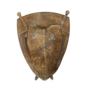 Muurdecoratie Schild met zwaarden 2