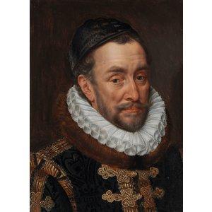 Glasschilderij 60x90cm Willem van Oranje goudfolie