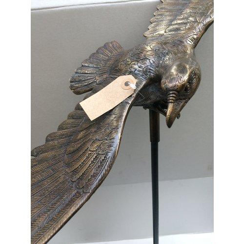 Bronzen tuinsteker adelaar