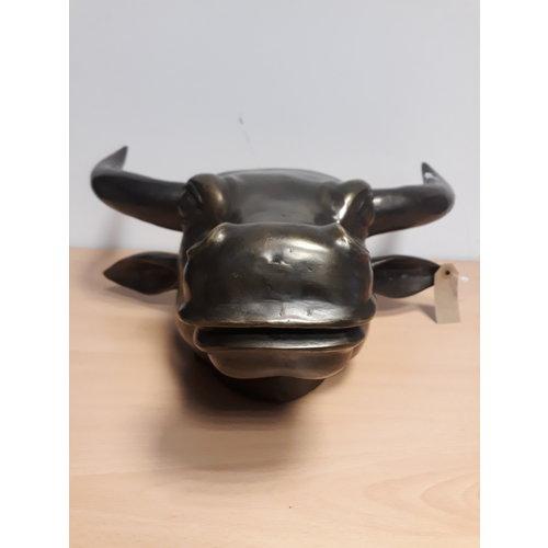 Bronzen hoofd koe