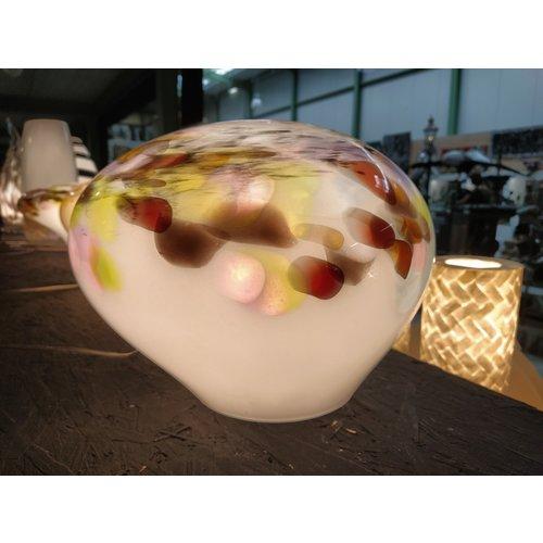 Glaslamp 'Murrina' laag doorsnede 34-36cm