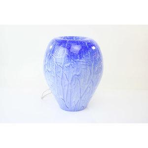 Lamp glas 'Blue' 34cm