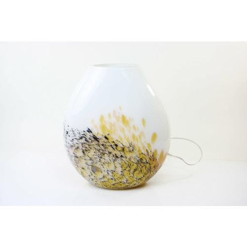 Lamp glas 'Marble' 37-38cm