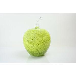 Beeld glazen Appel groen 25cm