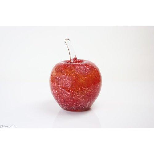 Beeld glas Appel rood 25cm