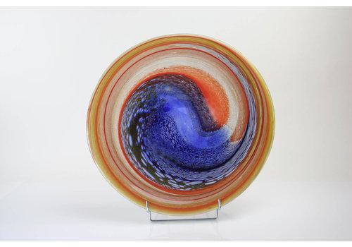 Schaal glas Palette 40cm