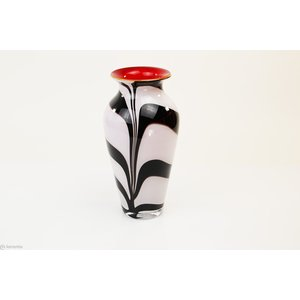 Vaas glas Zebra 27cm