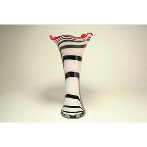 Glazen vaas Zebra waaier 40cm