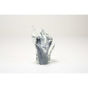 Olifant grijs met wit 13cm