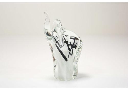 Olifant wit met grijs 13cm