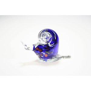 Slak blauw / kleur 11cm
