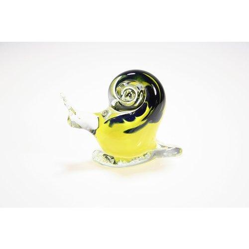 Slak  geel/blauw 11cm