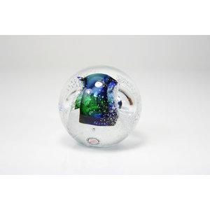 Glazen Bol multi luchtbellen 2 8cm