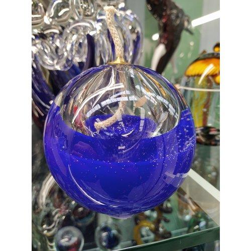 Olielamp glas blauw 10cm
