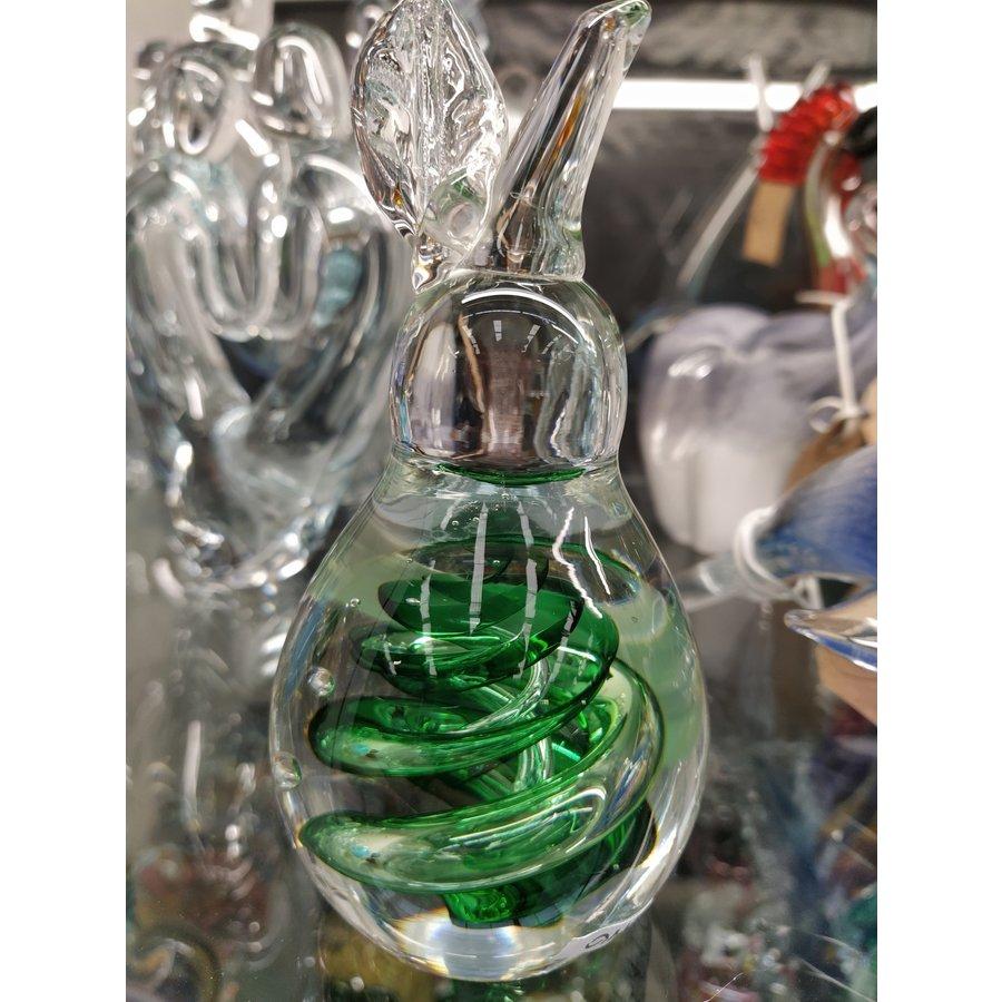 Kristalglazen beeld Fruit appel groen 11cm
