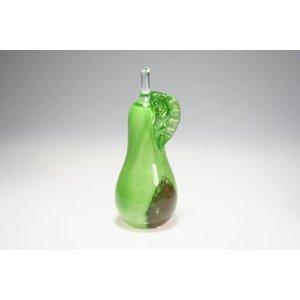 Beeld glazen Peer groen 18cm