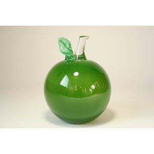 Glazen beeld Appel PPJP groen 16cm