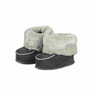 Babyslofjes schapenvacht grijs