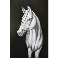 3D schilderij metaal 80x120cm Paard