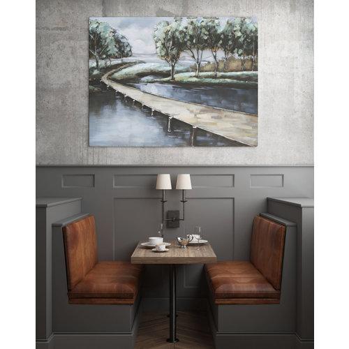 Eliassen 3D schilderij metaal 80x120cm Water en land