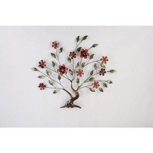 Muur-decoratie 3d Boom met bloemen