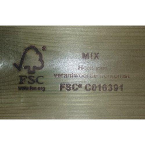 Talen Staphorst Bloembak Talen hout extra zwaar 6060