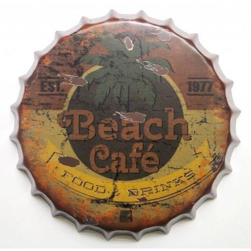 Eliassen Bierdop muurdecoratie Beach Cafe in 2 maten