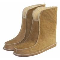 Wollen pantoffel hoog model Camel