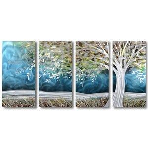 Schilderij aluminium  vierluik Storm 80x160cm