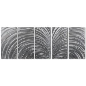 Schilderij aluminium  vijfluik   Expansie 60x150cm