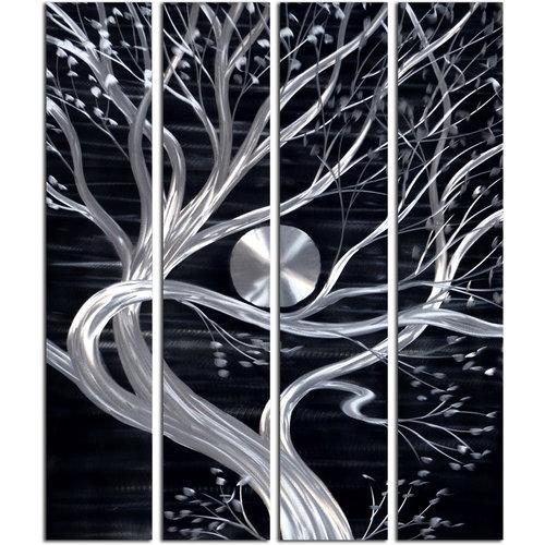 Schilderij aluminium  vierluik Boom  120x150cm