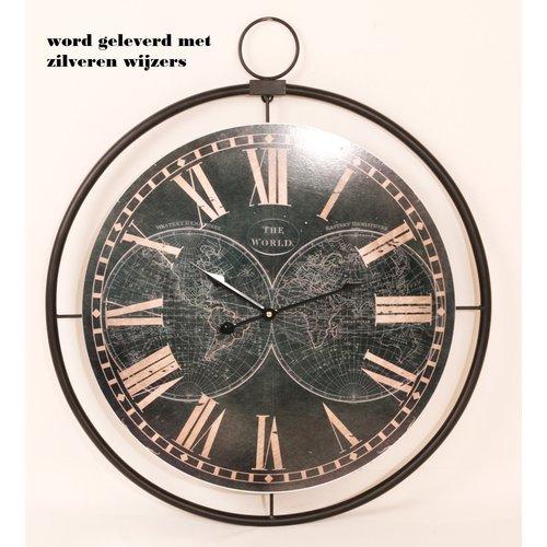 Eliassen Wandklok groot Globe 60cm
