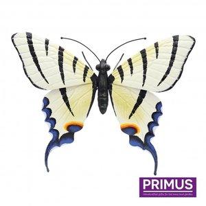 Metalen licht gele vlinder