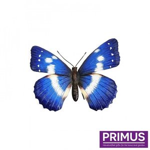 Metalen blauwe vlinder