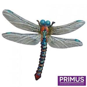 Metalen libelle blauw