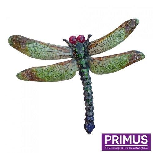 Metalen libelle groen