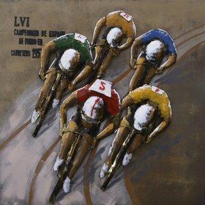 Eliassen 3D schilderij 80x80cm wielrenners baan