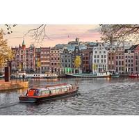 Glasschilderij 80 x 120 cm  Amsterdamse haven