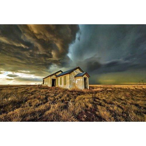 Ter Halle Glasschilderij 80 x 120 cm Eenzaam huis