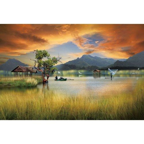 Ter Halle Glasschilderij 80 x 120 cm  Colorful