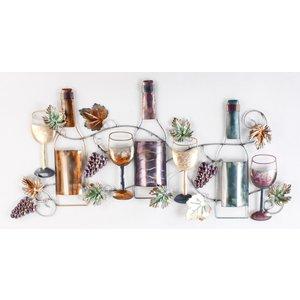 Eliassen Muurdecoratie Bottles en wine