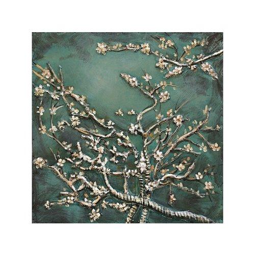 Eliassen 3d schilderij metaal 60x60cm Amandel bloesem
