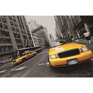 Eliassen Wanddecoratie glas 60x90cm Taxi