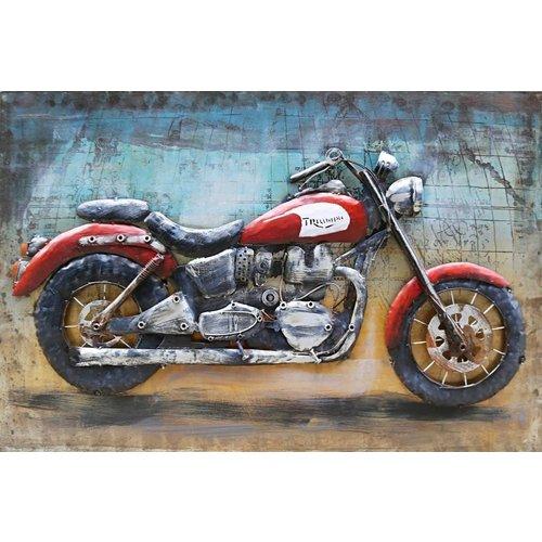 Eliassen 3D schilderij metaal 80x120cm Cafe racer Triumph