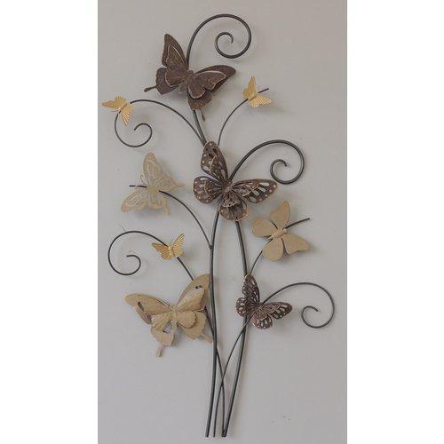 Muurdecoratie 3d  Tak met 9 vlinders