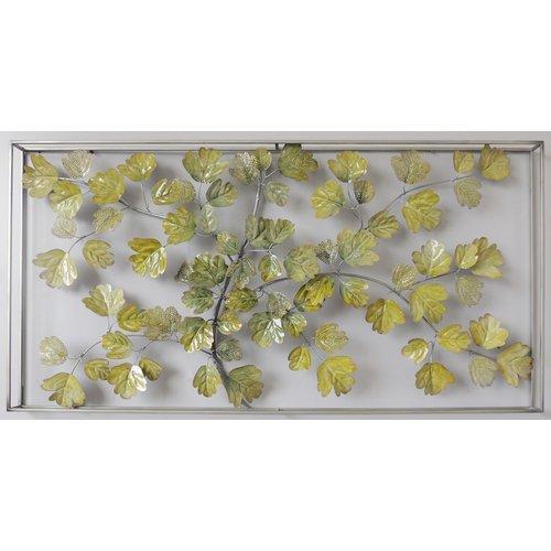 Muurdecoratie 3D in frame Gebladerte 135x7x70cm
