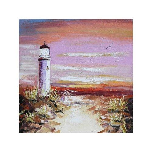 Canvas schilderij 100 x 100 cm Vuurtoren