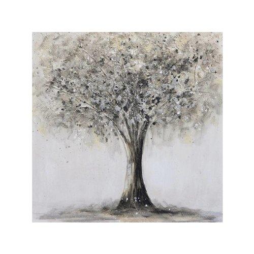 Canvas schilderij 80 x 80cm Boom
